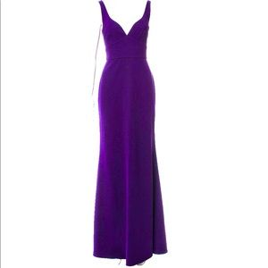 Jill Stuart Evening Dress Gown Eggplant Purple XS